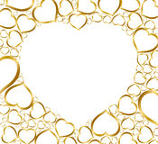 Background with golden hearts royalty free illustration