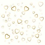 Background with golden hearts for valentines day on white. Background with golden hearts for valentines day on white color Stock Photography