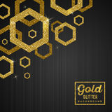Background with golden hexagons Royalty Free Stock Images