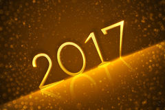 2017 background with golden numbers. Vector design. 2017 background with golden numbers. Vector design Royalty Free Stock Photos