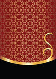 Background with golden ornament. Royalty Free Stock Photography