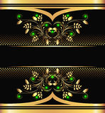 Background with golden ornament Royalty Free Stock Image
