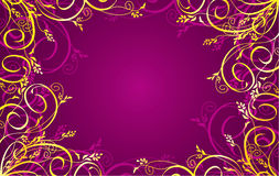 Background with a golden ornament. Ideally for use in your design vector illustration