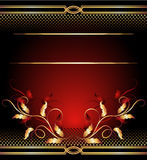 Background with golden ornament Stock Images