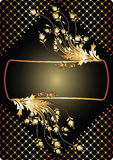 Background with golden ornament. For various design artwork stock illustration