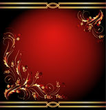 Background with golden ornament. Background with luxury golden ornament vector illustration