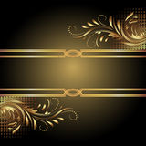 Background with golden ornament. For various design artwork vector illustration