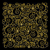 Background with golden ornament Royalty Free Stock Photos