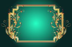 Background with golden ornament. And elegant frame vector illustration