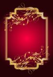 Background with golden ornament. And elegant frame royalty free illustration