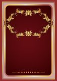 Background with golden ornament. Luxurious background with golden ornament frame royalty free illustration