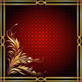 Background with golden ornament. For various design artwork royalty free illustration