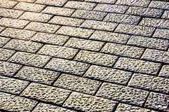 Background of golden  pavement Royalty Free Stock Images