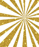 Background with golden rays Stock Images