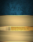 Background of golden ribbons with blue accents. Template for design. copy space for ad brochure or announcement invitation, abstra Stock Photos