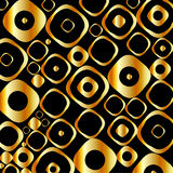 Background with golden rings and circles Stock Images