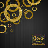 Background with golden rings Stock Image
