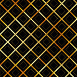 Background with golden squares and diagonal stripes Stock Photography