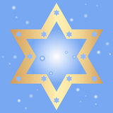 Background with golden star of David Royalty Free Stock Photos