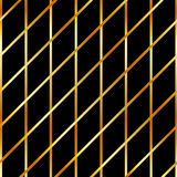 Background with golden stripes. On black Stock Photography