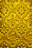Background of golden textured glass Stock Photo