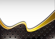 Background with golden wave Royalty Free Stock Images