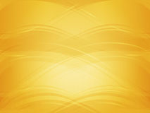 Background with golden waves. Light and dark golden abstract background with clear waves. Vector illustration with metallic curved shapes Vector Illustration