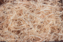 Background of the golden wooden curls Royalty Free Stock Image