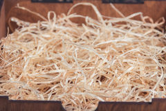 Background of the golden wooden curls Royalty Free Stock Photography