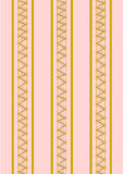 Background golden zigzag pattern on pink Stock Images