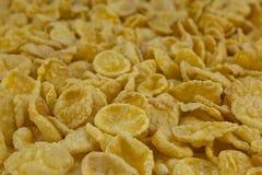 Background of goldish corn flakes stock images