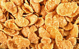 Background Of Goldish Corn Flakes Stock Images