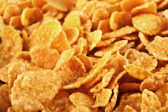Background Of Goldish Corn Flakes Stock Photography