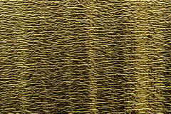 Background of goldy shiny foil with fine horizontal stamping. Texture of foil Royalty Free Stock Image