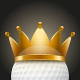 Background of Golf ball with royal crown Royalty Free Stock Photos