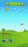 Background of golf field Stock Photos
