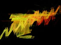 Background gradient, fractal and ribbon shape Royalty Free Stock Photography