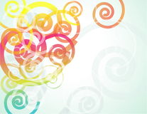 Background with gradient spirals Stock Photography