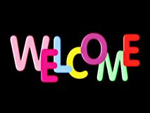 welcome sign,  text Stock Photography