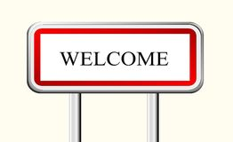 Welcome sign, symbol. Photo of abstract image, hello, welcome sign with text, illustration, with the light and the design. Improve your website with this Royalty Free Stock Image