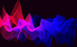Background gradient waves Royalty Free Stock Image