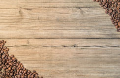 Background with grain coffee Stock Photography