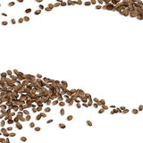 Background with grains coffee Arabica waves Stock Photo