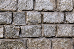 Background of a granite wall. Structure and structure of a granite wall Royalty Free Stock Photos