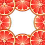 Background with grapefruit slices Stock Image