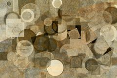 Background for graphic design, pattern shape. Ellipse, details, web & cover. Abstract grunge & rough, blended texture overlay for web page, graphic design Stock Photography