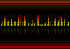 Background - Graphic equalizer. Vector illustration of a graphic equalizer Royalty Free Stock Photos