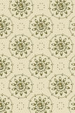 Background - graphic flower faces diagonal. Vector background - graphic flower faces light brown Royalty Free Stock Images