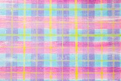 Brightly colored graphic resource, childish plaid pattern royalty free illustration