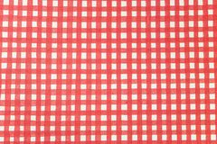 Striped red and white graphic resource for picnics vector illustration